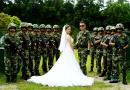 当军装遇上婚纱,这霸气没谁了!