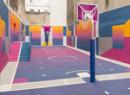 彩色篮球场