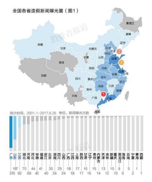 中国假货地图:江苏,广东,山东最多 徐州第8南京18图片