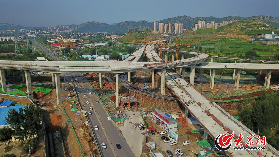 35米!济南最高立交桥主体露真容