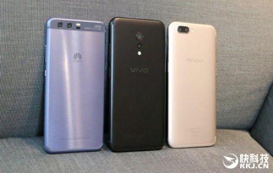 2017年Q2中国智能手机销量排名:华为OV小米大爆发