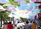 这些雨伞为啥晴天开