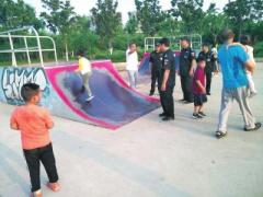 私人在公园建极限运动设施?郑州市园林部门否认