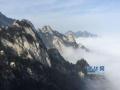 尧山景区已连续三次飘雪 漫山的雾凇和雪凇