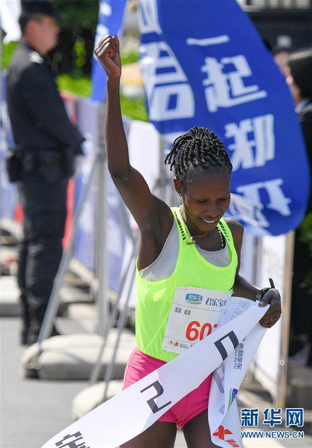 (体育)(4)马拉松——2019郑开国际马拉松赛开跑