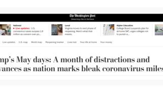 美媒这样总结特朗普的五月: 黯淡、恼火、悲伤